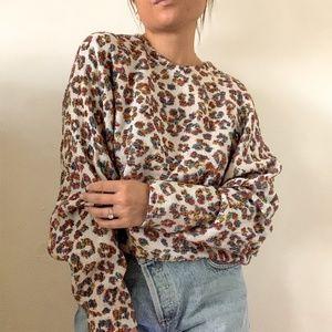 Chloe Multi Color Cheetah Blouse